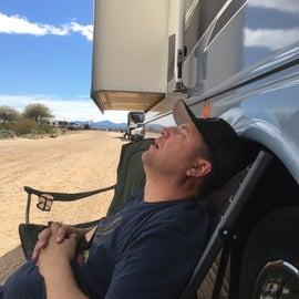 Little nap after a long ride