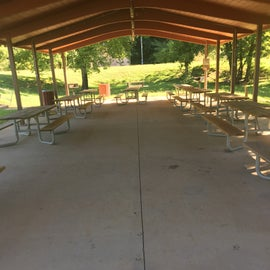 The large pavilion is wheelchair accessible