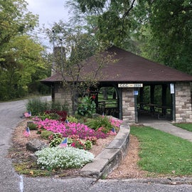 The picnic shelter, built by the CCC, was very nice