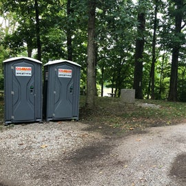 Only porta-potties throughout the park