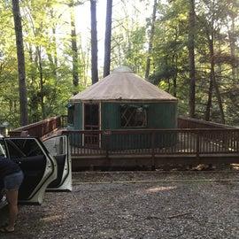 Yurt #4 at Fairy Stone State Park