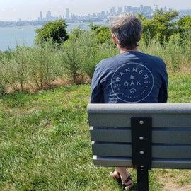 Enjoying the Boston skyline