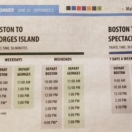2019 ferry schedule