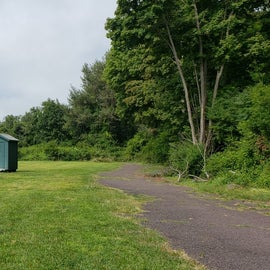 Group campsites have picnic tables, grills, and a composting toilet.