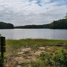 View from the short trail to the lake's edge.