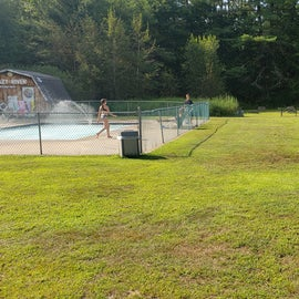 Volleyball next to the pools