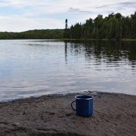 camp coffee and lakes, perfect