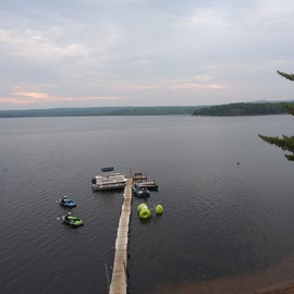 Dock with rentable equipment.