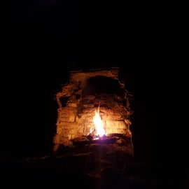 Making use of the fireplace