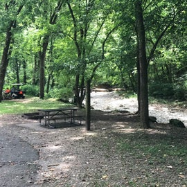 Creek at back