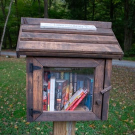Free book exchange library--Nice touch.