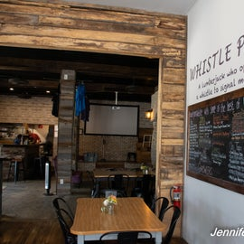 Whistle Punk is a great local eatery/brewery.  Excellent local coffee custom blended by Cranberry Coffee Co.