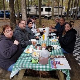 Breakfast with friends. October 2018