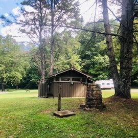 Water spigot in the campground