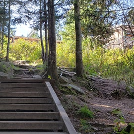 This stairway leads to the lodge