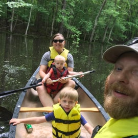 Canoeing with the fam!