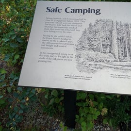 The campground had some of these informative signs.