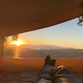 Site #28 sunrise from my camper.