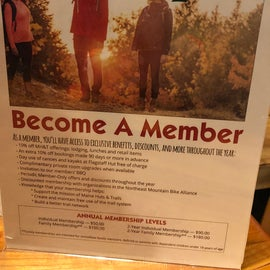 You can support the non-profit organization that runs the trails and huts by becoming a member