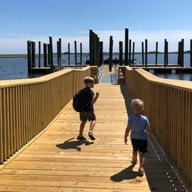Brand new ferry dock!