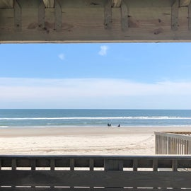 The beach from the bathrooms/snack bar area