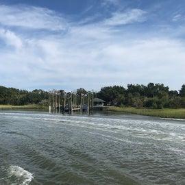 The ferry dock on Bear Island