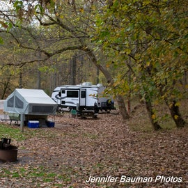 This cul-de-sac at the River Run Campground was very private and would be great for tent campers.