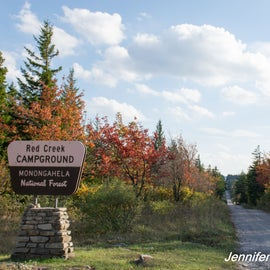 Entrance sign at Red Creek Campground