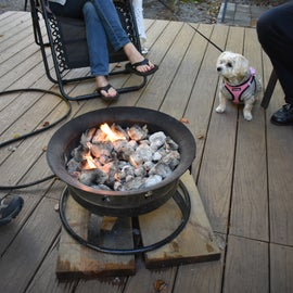 """Sharing a """"campfire"""" with friends at the Campground"""