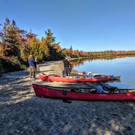 Along the beautiful shores of Lobster Lake.