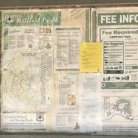 Arrowhead Campground info board