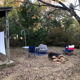 campsite movie night,