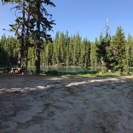 The spot where we pitched our tent.  It was probably where you parked but it was the flattest we saw.