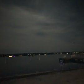 Night time water view