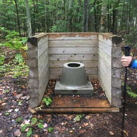 There was an interesting outhouse available for peak campers.