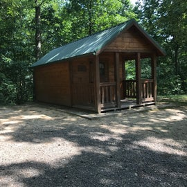 Two rustic rental cabins, four bunks per cabin
