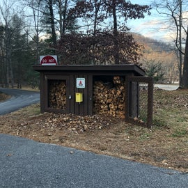 Firewood available to buy at the Park Office