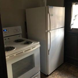 Stove and fridge