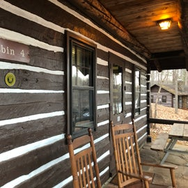 Cabin 4 was built in the 1930s by the Civilian Conservation Corps - lots of history in this cabin!