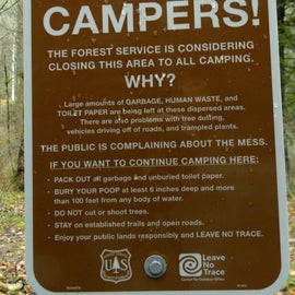 I hope they do not close these campsites down because of other people's negligence.