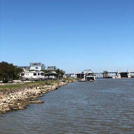 Picture of the rv sites from the Marina
