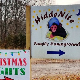 Upon arrival, I was surprised to find out that the campground was also a festival of lights.