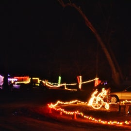 Christmas lights at the campground