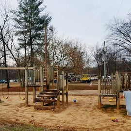 There is a playground at the campground.