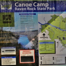 You can canoe in to camp here.