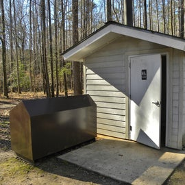 There is one pit toilet for the camping area.