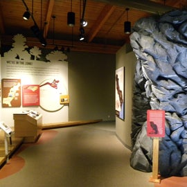 There is an exhibit hall at the visitors center, which details the geological and historical aspects of the area.