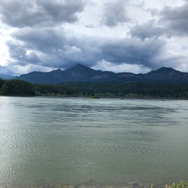 View of the Columbia River from the other side of the park.