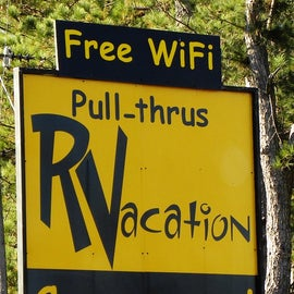 """This """"campground"""" is only for RV camping.  Tents are not allowed."""