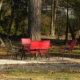 Some of the picnic tables are a lot nicer than ones I have seen at other campgrounds.